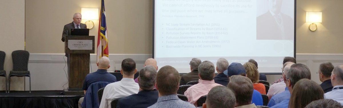 Forrest Westall presents at NC-AWWA Conference