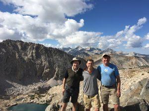 Joel Storrow enjoys an adventure in the mountains