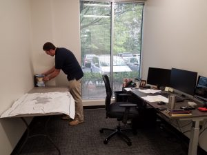 Setting up the new Raleigh office space