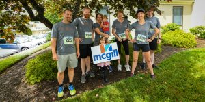 McGill staff prepare to run the Chamber Challenge
