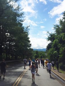 Mountain view during the Asheville Chamber Challenge