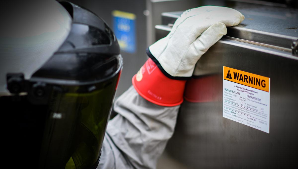 McGill Arc Flash Warning Label for MSD Pump Station