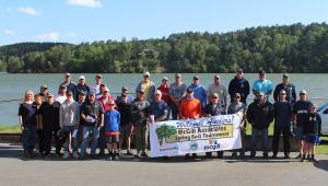 2019 McGill fishing tournament group photo