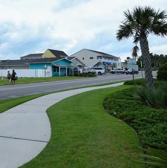 Sunset Beach Sidewalk