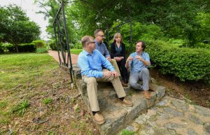Land Planning and Recreation Team sitting on steps