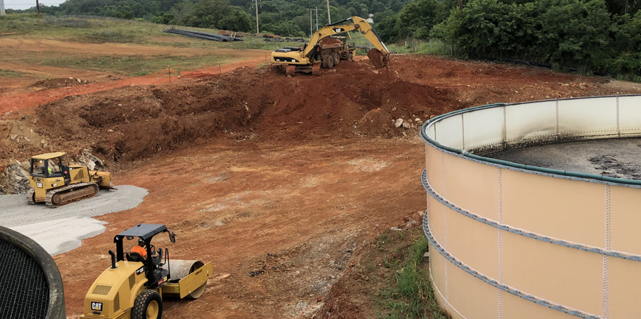 Jefferson City Tennessee Wastewater Treatment Plant Construction