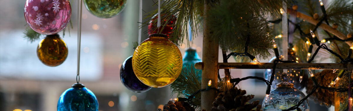 Christmas Party Header Ornaments