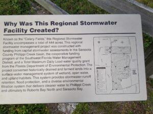 Sarasota County FL Regional Stormwater Facility Sign