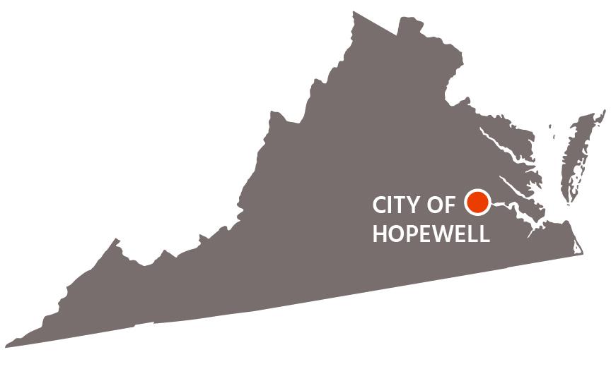 City of Hopewell, VA map