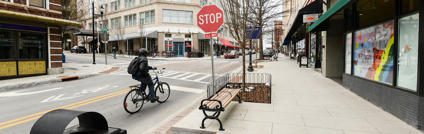Haywood Streetscape Biker