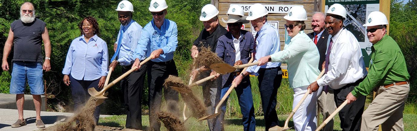 Rhodes Pond Dam Groundbreaking Ceremony