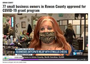 Screenshot of Samantha Houston who received coronavirus relief fund money